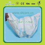 Bonne couche-culotte remplaçable de bébé avec la feuille de dos de coton de bande de pp