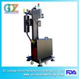 marcação do laser da fibra de 30W Ylpf-30A para o metalóide plástico da tubulação de PP/PVC/PE/HDPE/UPVC/CPVC