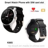 SIMのカードスロット(K88S)が付いているスマートな腕時計の電話
