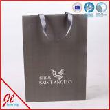 Bolsas de papel de papel de las compras de Manuyfacturer de los bolsos de compras de las marcas de fábrica con insignia