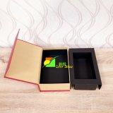 Boîte-cadeau colorée d'emballage de mémoire de papier d'art avec le plateau noir
