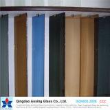 색을 칠한 플로트 유리가 최고 공간에 의하여, 청동, 회색, 파랑, 녹색이 된다