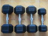 Precio determinado de la pesa de gimnasia revestida de goma del equipo de entrenamiento de la aptitud
