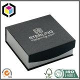 Boîte-cadeau magique de montre de carton de papier de noir de fin de bande avec le guichet
