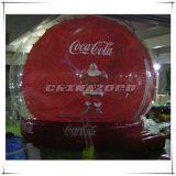 De naar maat gemaakte Opblaasbare Bol van de Sneeuw van Kerstmis voor BedrijfsBevordering