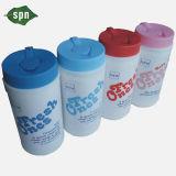 Multipropósito orgánica sin pelusa paño húmedo con el caso plástico