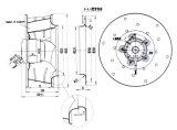 ventilador de ventilação centrífugo da C.A. do diâmetro X 140mm de 320mm