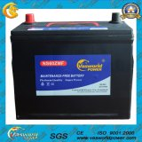 JIS Standard Maintenance Free Battery N75 12V75ah Auto Battery