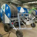 Schlauch-Bandspule-Bewässerung-Maschinen-Regen-Sprenger, der Bewässerungssystem bewirtschaftet
