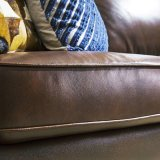 Sofa de cuir de salle de séjour de type de l'Amérique, sofa d'Ikea (1704)