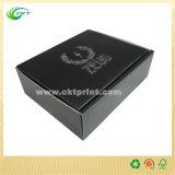 Contenitore di regalo nero del documento del cartone con rivestito UV del punto (CKT-CB-709)