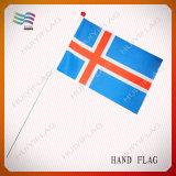 Indicateur de ondulation de main nationale de polyester pour les cadeaux (HYHF-AF054)