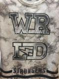 熱い販売の人の衣服Fw8607の長い袖の大理石プリントスエットシャツのTシャツ