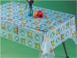PVC十分に印刷された透過テーブルクロス(TT0222)