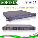 4 Cvbs entraron 1 codificador estupendo hecho salir IP MPEG-2