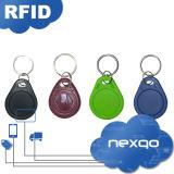 Clave elegante ultraligero de seda Fob del ABS MIFARE RFID de la impresión de la pantalla del bajo costo