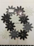 高品質の花の形ガラスそして大理石の混合されたモザイク