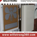 Panneau en fibre de bois en aluminium à finition texturée en bois pour mur