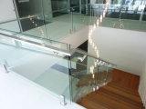 Personalizado contemporáneas de acero inoxidable Barandillas de cristal Precio