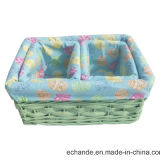 Handmade Bright Color Wicker Basket, Picnic.를 위한 Good