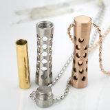 Form-dünne Taillen-Edelstahl-Duftstoff-Flaschen-hängende Schmucksache-Halskette mit silberner Farbe
