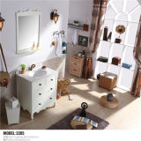 Type 현대 PVC Floor - Mirror를 가진 거치된 Bathroom Vanity