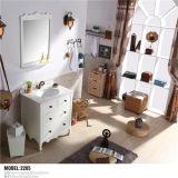 Type moderno Bathroom Pavimento-montato PVC Vanity con Mirror