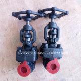 API602 robinet d'arrêt sphérique modifié par 800lb/1500lb d'amorçage de l'acier A105