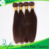 Emaranhado livre e cabelo humano de Humen da cor de Brown&Blond do Virgin de Dyeable