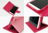 Cubierta/caja baratas promocionales del teléfono celular del estilo de la carpeta del cuero artificial para el iPhone