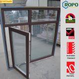 Abbildungen des Aluminiumflügelfenster-Schwingens äußeres Windows mit doppeltem Glas