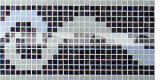 mosaico de cristal de fusión de la frontera del modelo de la nube de 15X15m m (BGAB004)