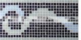 15X15mm 구름 패턴 녹는 유리제 국경 모자이크 (BGAB004)