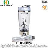 Bouteille en plastique de dispositif trembleur de poudre de vortex de charge d'USB, bouteille électrique en plastique portative de dispositif trembleur de protéine (HDP-0824)