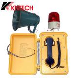 Estrada, telefone impermeável ao ar livre Emergency do serviço especial do telefone do telefone Knsp-03 de /Mining do túnel