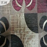 Tela de Chenille tecida floral com revestimento (fth31899)