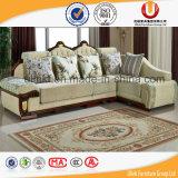 Sofà sezionale di legno di Handcaved della mobilia domestica antica (UL-Y602)