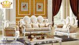 Salón Sofá / Madera Sofá / sofá de estilo europeo / clásico Sofá / Media-sofá de cuero Sq012