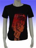 Le T-shirt des femmes faits sur commande promotionnels du logo 100%Cotton