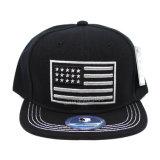 2016 gorras de béisbol del satén del negro de la venta al por mayor del estilo de las noticias (A349)