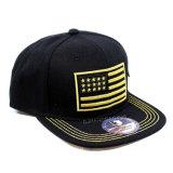 2017 gorras de béisbol del satén del negro de la venta al por mayor del estilo de las noticias (A349)