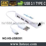 Alta velocidade e inteiramente - tipo compatível cubo do USB de C