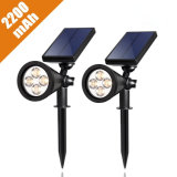 Lights Solar Outdoor Lighting LED Solar Light Groundの4つLED 200 Lumens Solar Wall Lightsを防水しなさい