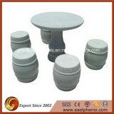 Qualitäts-grauer Granit-Garten-Stein-Tisch