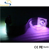 Muestra flexible a todo color P7.62 del LED para la barra
