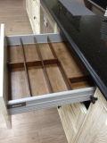 Armário de base de gaveta de madeira sólida de carvalho vermelho