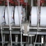 スパンデックスのコアによって回されるヤーンのための織物のプロセス用機器装置