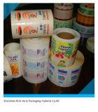 Impression d'étiquette adhésive. à l'étiquette d'étiquette adhésive pour des substrats d'impression