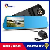 """4.3 """" tachigrafo della macchina fotografica di visione notturna HD del registratore dello specchio di Rearview dell'automobile DVR dell'affissione a cristalli liquidi video"""