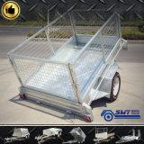 De lichtgewicht Aanhangwagen van de Container met de Kooi van het Staal